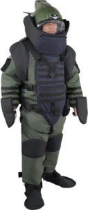 EOD Suit high protection standing